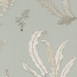 Papier peint - GP & J Baker - Ferns - Soft blue