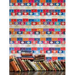 Papier peint - Osborne & Little - Penguin Library - Multi