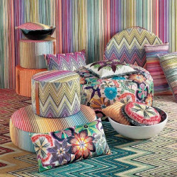 Tissu - Missoni Home - Passiflora Giant - Turchese multicolor