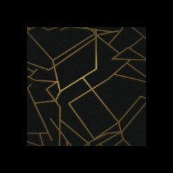Papier peint - Erica Wakerly - Angles - GOLD/BLACK