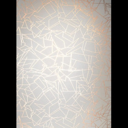 Papier peint - Erica Wakerly - Angles - GOLD/WHITE
