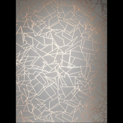 Papier peint - Erica Wakerly - Angles - GOLD/LEAD GREY