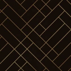 Papier peint - Erica Wakerly - Tapet Cafe Tile - GOLD/BROWN