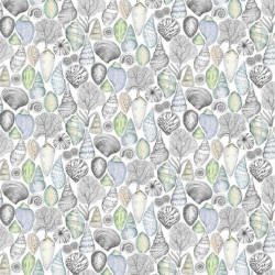 Tissu - Designer's Guild - Shell Bay Outdoor - Cobalt