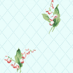 Papier peint - Thibaut - Lily of the Valley - Blue