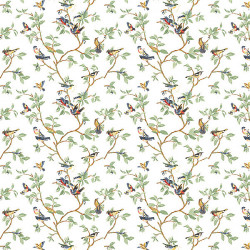 Papier peint - Thibaut - Little Bird - White