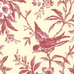 Papier peint - Thibaut - Chelsea Morning Toile - Sunbaked Red