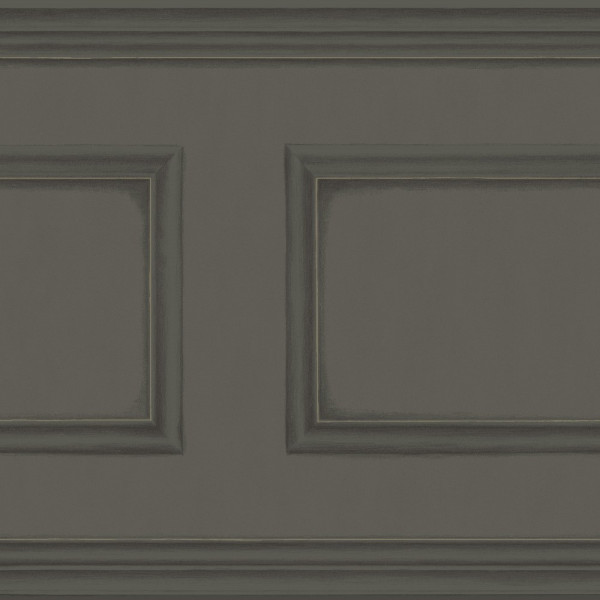 Tapisserie Anthracite Cimaise Imitation Boiseries Cole And Son