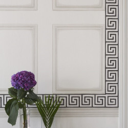 Frise - Cole and Son - Queens Key Border - Charcoal & Bronze