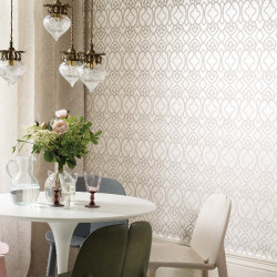 Papier peint - Matthew Williamson - Imperial Lattice - Gray
