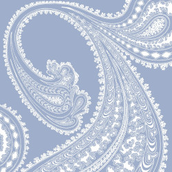 Papier peint - Cole and Son - Rajapur - White & Dark Blue
