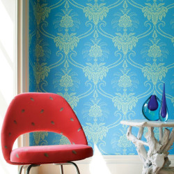 Papier peint - Anna French - Damask - Blue/Green