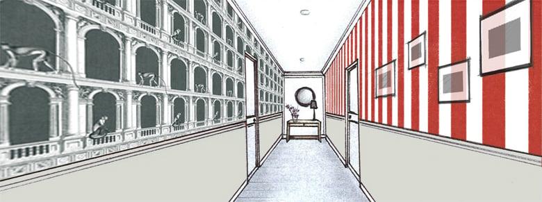 du papier peint pour votre couloir blog au fil des couleurs papiers peints et d cors muraux. Black Bedroom Furniture Sets. Home Design Ideas