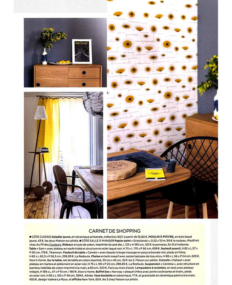 le journal de la maison avril 2016 blog au fil des couleurs papiers peints et d cors muraux. Black Bedroom Furniture Sets. Home Design Ideas