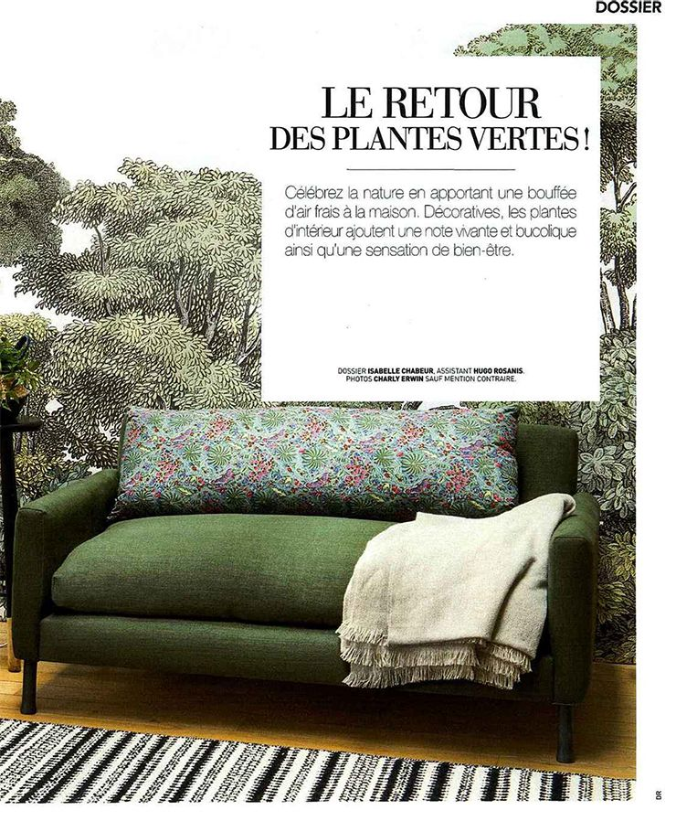 Bellewood, collection Greenhouse de RebelWalls dans la magazine Art & Décoration Avril 2016