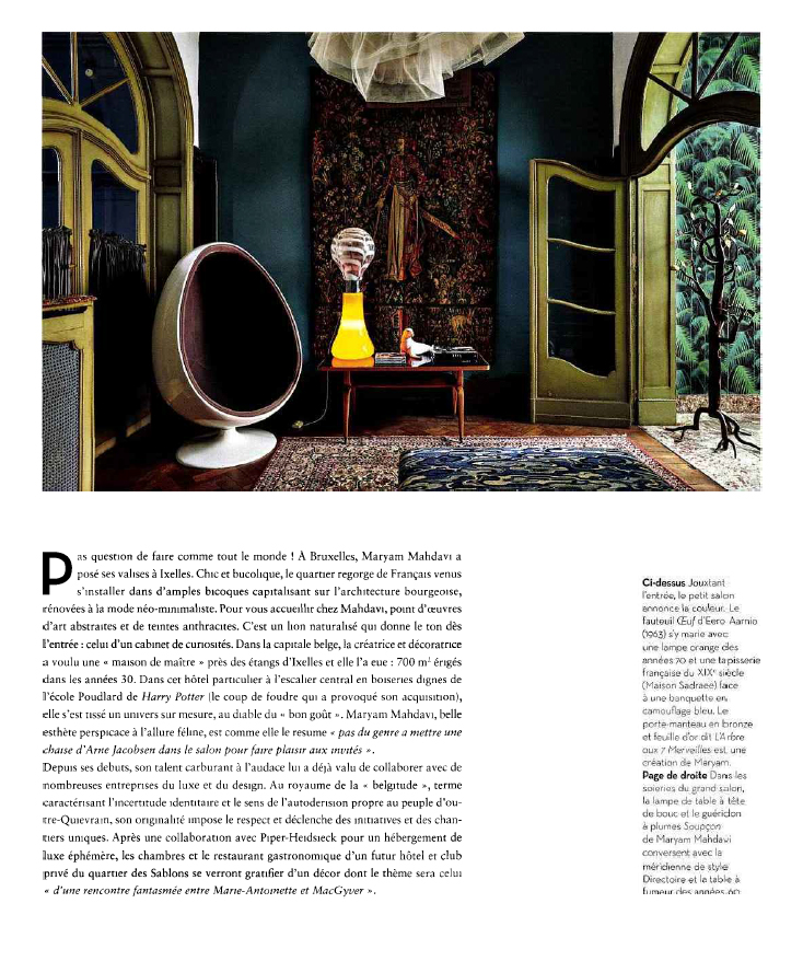 Papier peint Palm Jungle de Cole and Son du magazine IDEAT Novembre 2015 - Janvier 2016
