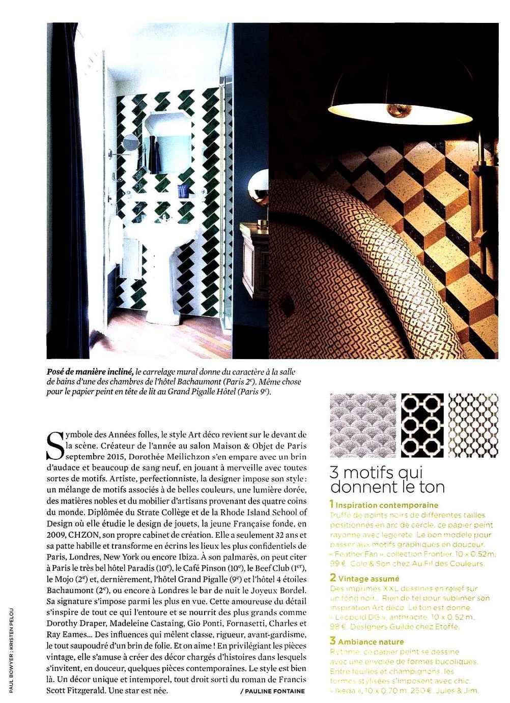 Le journal de la maison octobre 2015 blog au fil des couleurs papiers peints et d cors muraux - La maison des couleurs ...