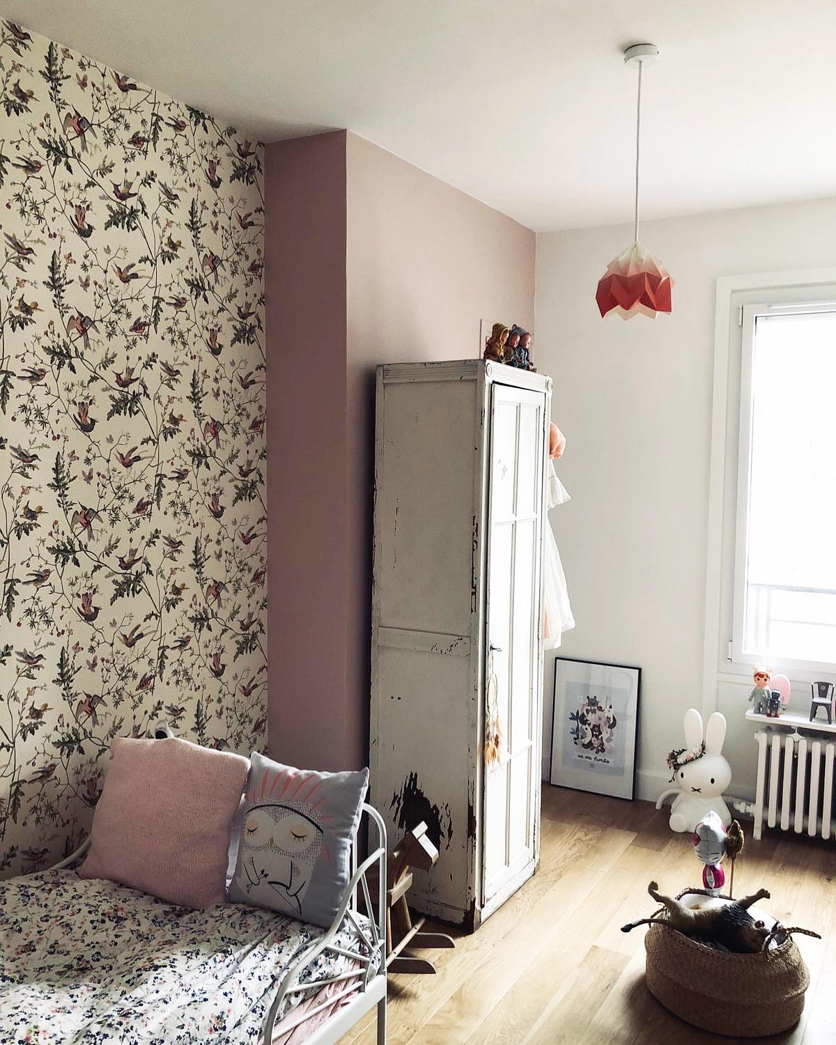 Papier peint oiseaux Hummingbirds beige de Cole and Son - @Alexandra.V - DR