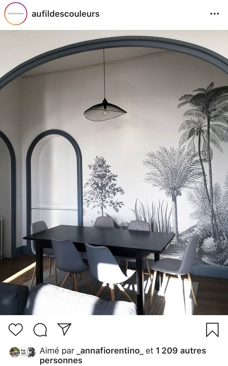 Papier peint panoramique Aloes des Dominotiers © DMB Design Interieur