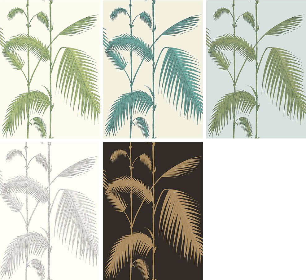 Papier peint tropical Palm Leaves - Cole and Son - Au fil des Couleurs