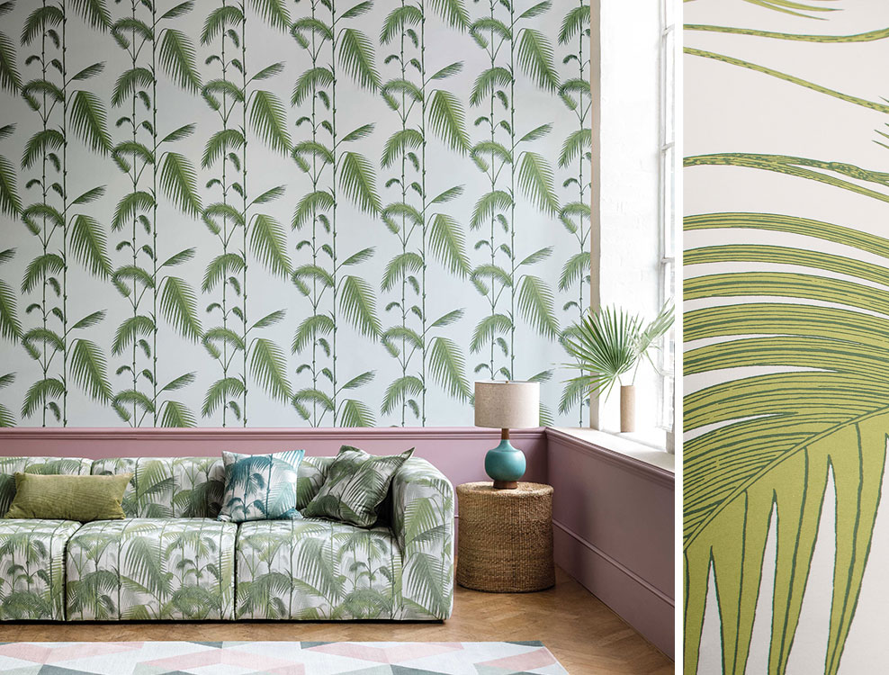 Papier peint Palm Leaves - Cole and Son - Au fil des Couleurs