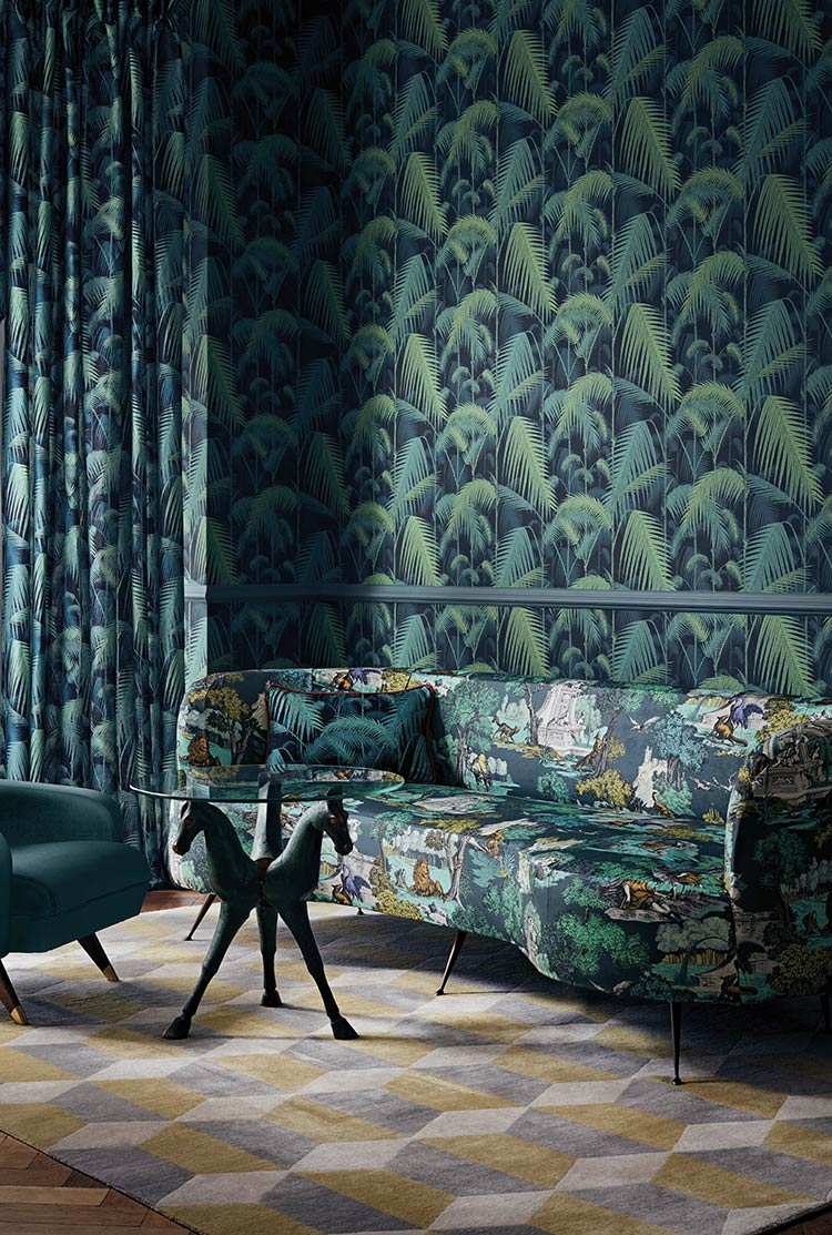 Tissu Palm Jungle Cole and Son - The Contemporary Fabrics - En vente chez Au fil des Couleurs