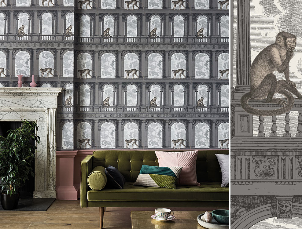 Papier peint Procuratie Con Vista - Collection Senza Tempo Fornasetti - Cole and Son - Au fil des Couleurs