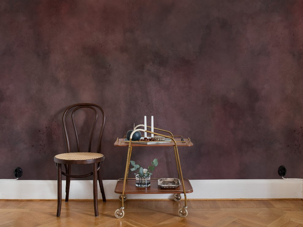 Color Clouds, Maroon - Collection Palette - Rebel Walls