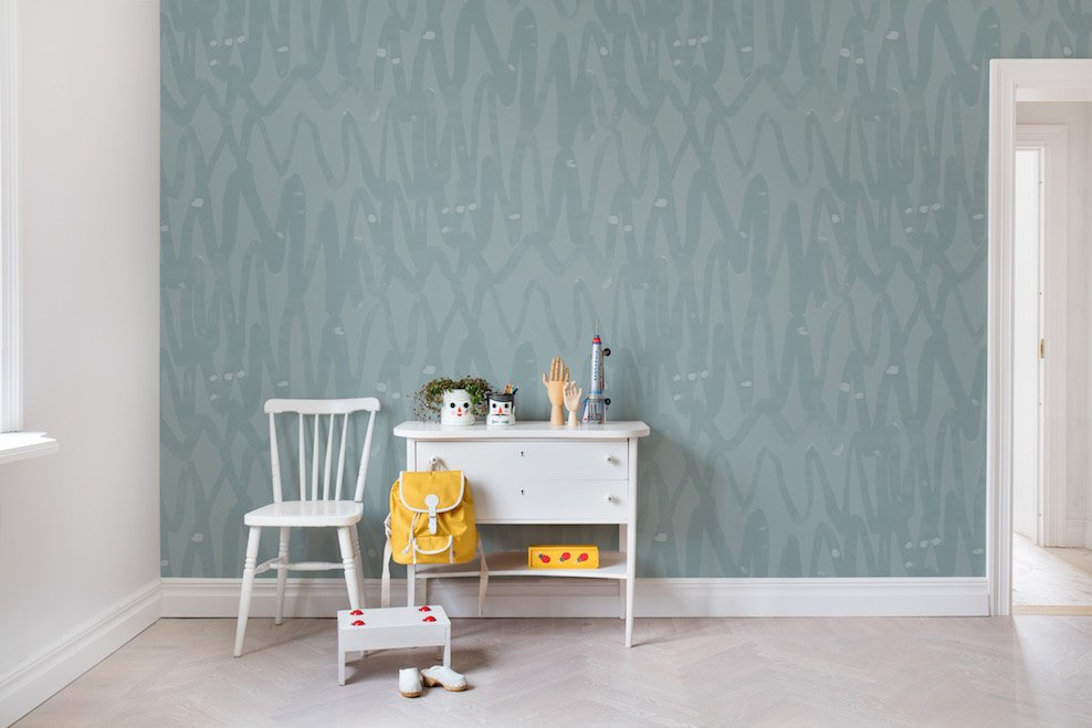 Pulse of Passion, Mint - Collection Palette - Rebel Walls