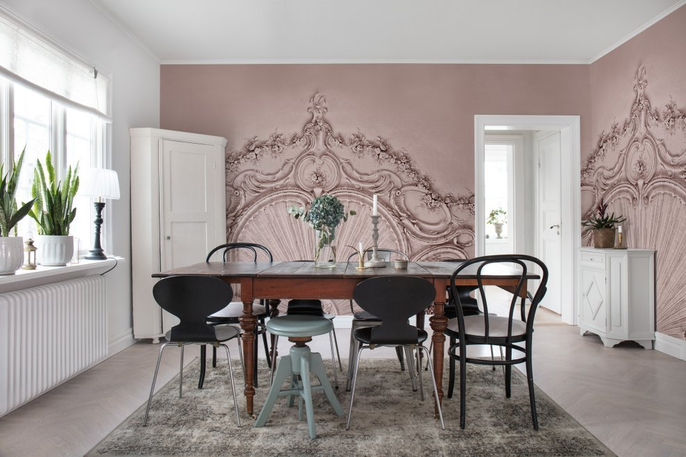 Stucco Gloria, Dusty Pink - Collection Palette - Rebel Walls