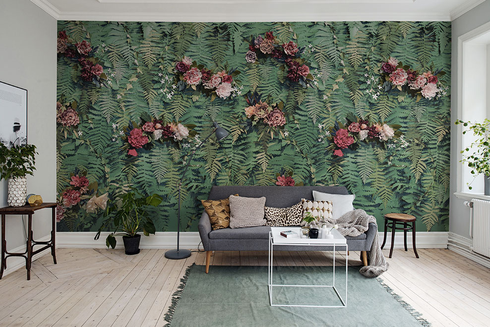Décor mural tropical - Unfading Flowers - Rebel Walls - Au fil des Couleurs