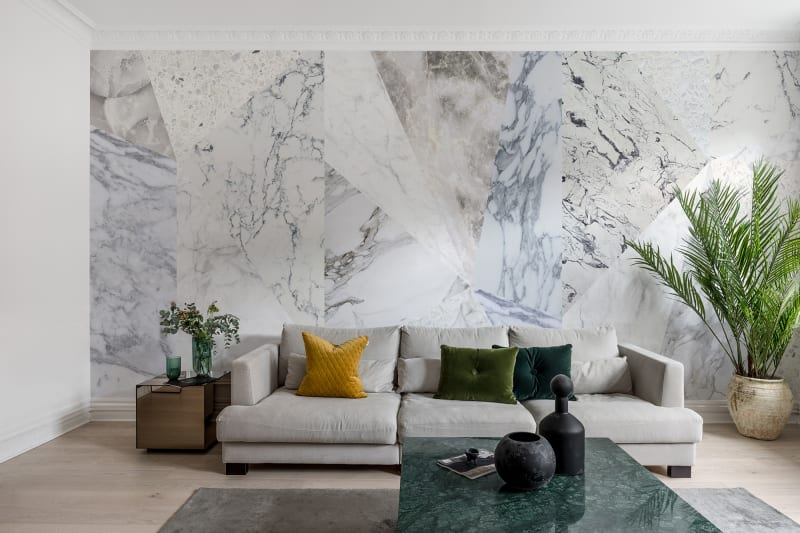 Décor mural Big Diamond Marble - Collection Deco - Rebel Walls - Au fil des Couleurs