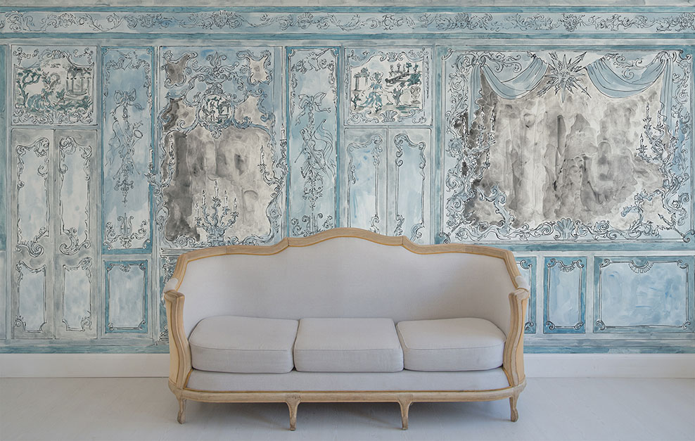 Décor mural Suite Royale - Collection Palace - Vincent Darré x Au fil des Couleurs