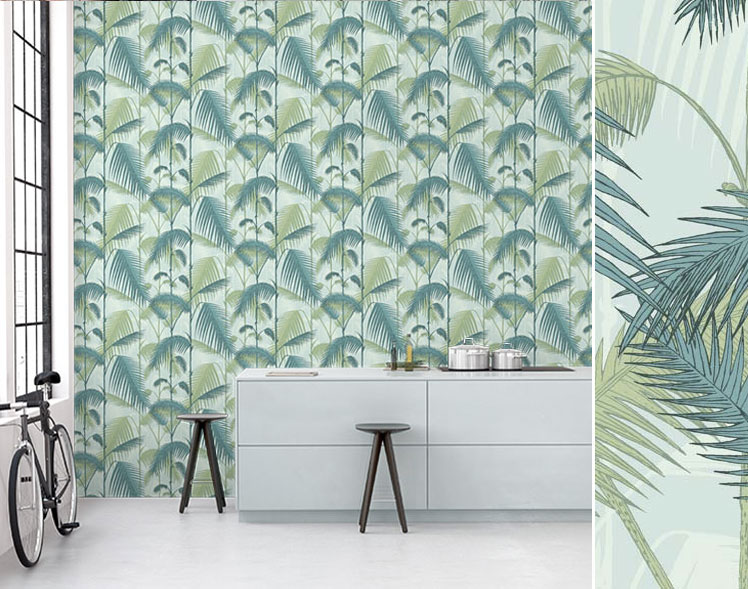 Papier peint tropical Palm Jungle de Cole and Son - Disponible chez Au fil des Couleurs