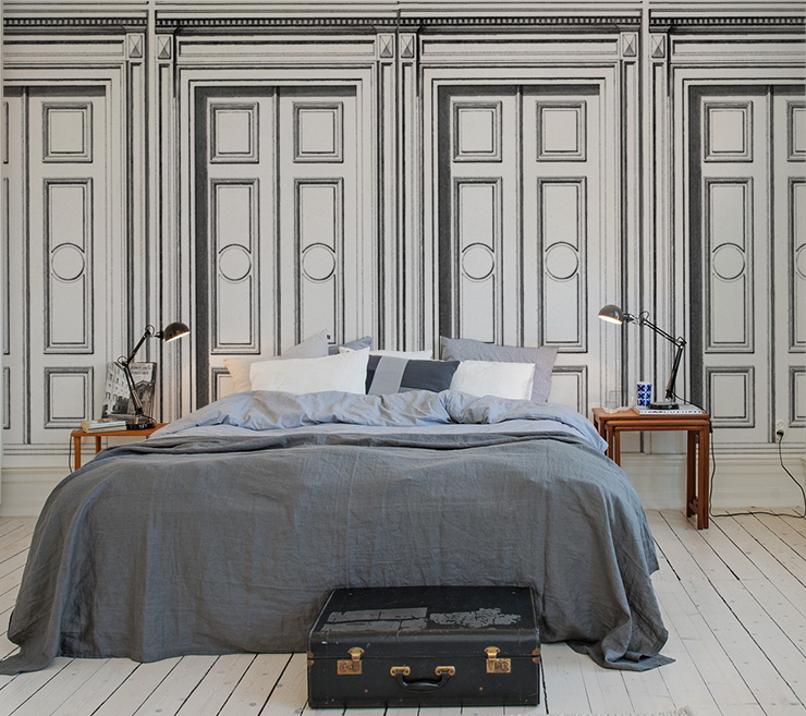 papier peint trompe l oeil pour chambre adulte papier peint papier peint idee deco pour couloir. Black Bedroom Furniture Sets. Home Design Ideas