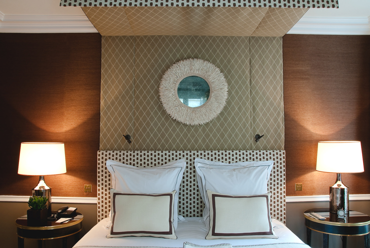 une d co murale effet mati re l 39 h tel r camier blog au fil des couleurs papiers peints et. Black Bedroom Furniture Sets. Home Design Ideas