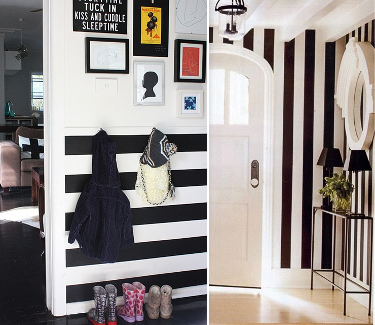 papiers peints pour une entr e noir blanc blog au fil. Black Bedroom Furniture Sets. Home Design Ideas