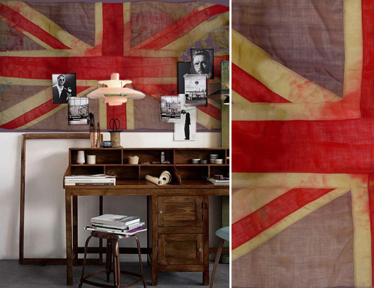 Papier peint drapeau anglais cole and son